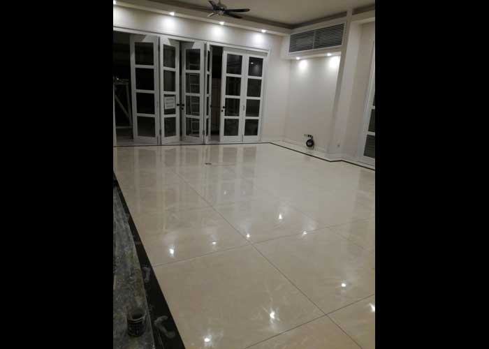 Cement polished