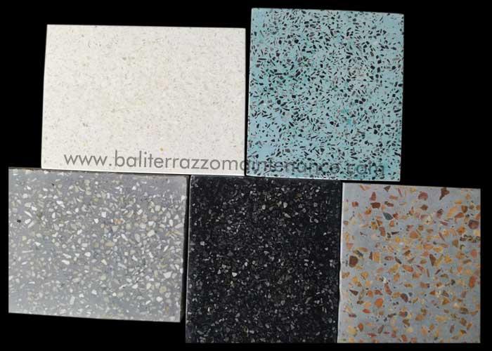 color sample resin terrazzo